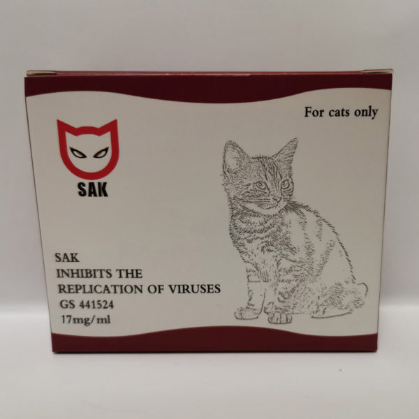 SAK III GS 441524(17mg/ml) feline infectious peritonitis(FIP & FIPV), 5.2ml (1 vial)